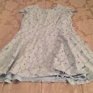Tiffany blue floral dress CHARLOTTE RUSSE size L